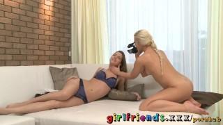 Girlfriends make Homemade sextape lesbian pov on great ass