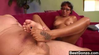 Office Whore Needs A Feet Massage