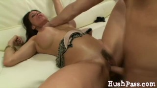 Amateur MIlf Sheila takes a huge load from a young guy!