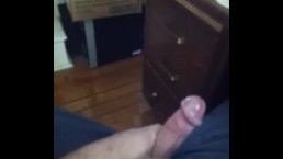 Self video: morning wood=nice cumshot ;-)