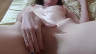Pussy Eating&Cum On Belly. Amateur Brunette Pornstar Sylvia Chrystall. HD