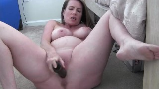Screen Capture of Video Titled: Horny Pregnant Milf Masturbates and Encourages You To Jerk Off For Her