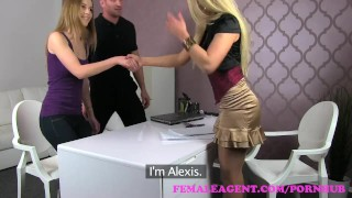FemaleAgent. MILF shares sexy womans boyfriend in amazing threesome  agent big cock riding audition blonde cumshot femaleagent casting milf hardcore office czech 3some threesome interview small boobs