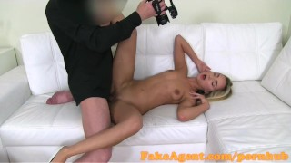 Casting fakeagent blonde fucks stunning student in fashion view small