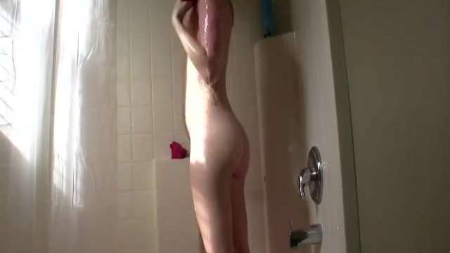 She took a hot shower after work - 10