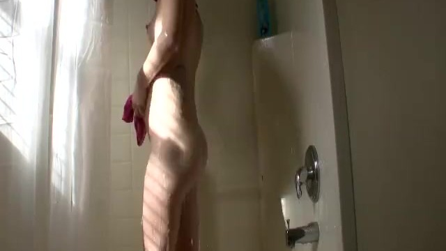 She took a hot shower after work - 3