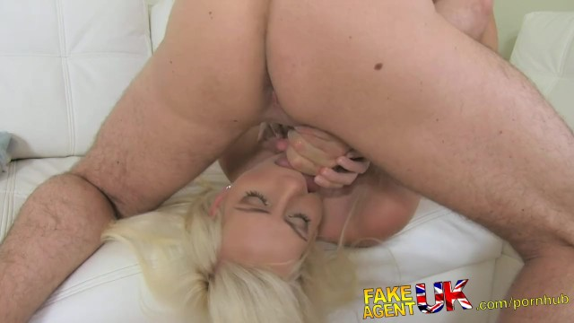 FakeAgentUK Blonde sexy Czech girl squirts all over agents cock - 10