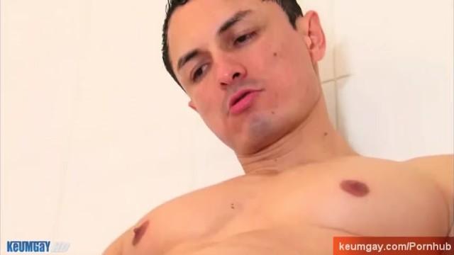 Horny spanish guy taking a shower. - 12