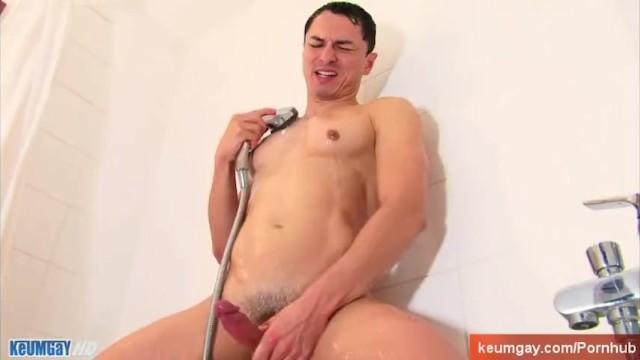 Horny spanish guy taking a shower. - 16