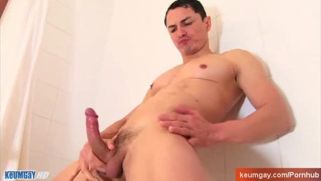 Horny spanish guy taking a shower. - 8