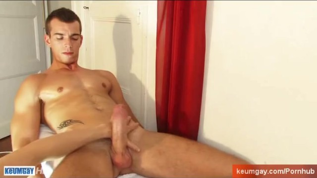 French stud gets wanked his huge cock by a guy. - 5