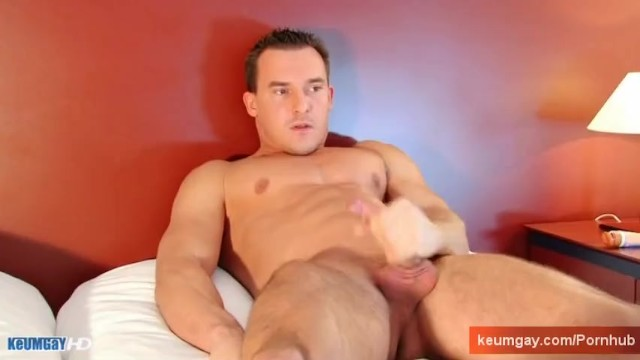 Soccer football player gets wanked his big cock by a guy. - 15