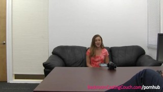 Young Mom Cheating on Boyfriend on Casting Couch