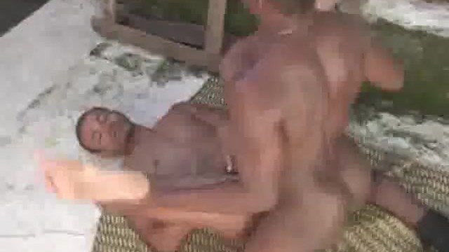 Black Dude In Beret Fucks And Cums On His Mate - 9