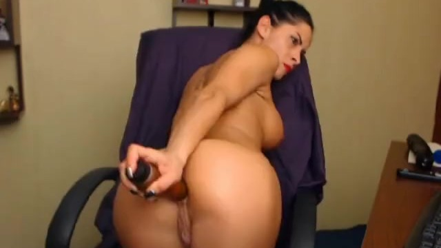 Hottie Masturbating with Huge Dildo - 10
