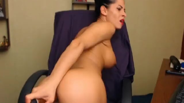 Hottie Masturbating with Huge Dildo - 11