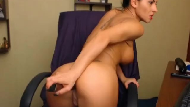 Hottie Masturbating with Huge Dildo - 12
