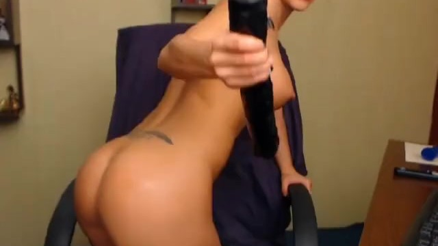 Hottie Masturbating with Huge Dildo - 13
