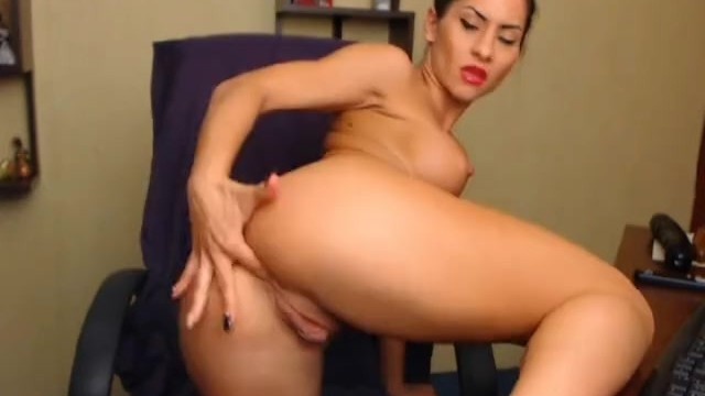 Hottie Masturbating with Huge Dildo - 4