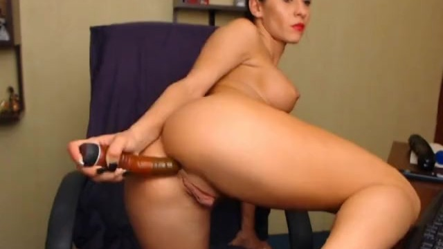 Hottie Masturbating with Huge Dildo - 5