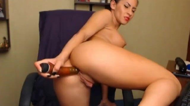 Hottie Masturbating with Huge Dildo - 6