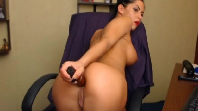 Hottie Masturbating with Huge Dildo - 7