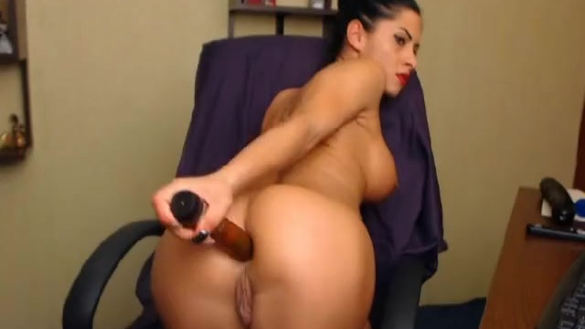 Hottie Masturbating with Huge Dildo - 8