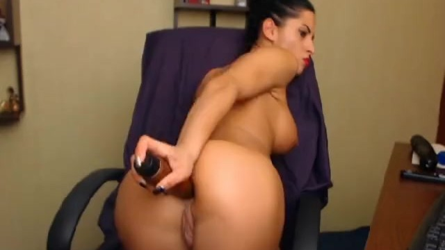 Hottie Masturbating with Huge Dildo - 9