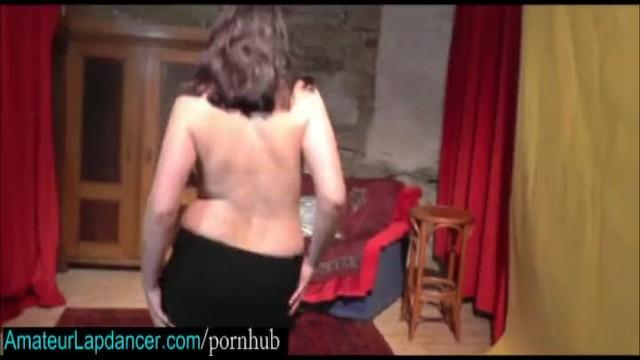 Tasty brunette does strip and lapdance - 1