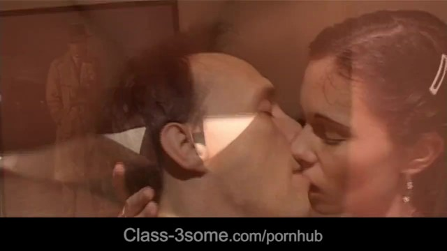 Brunette and blonde caring dick with mouth - 15