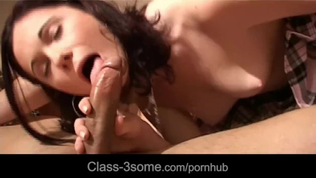 Brunette and blonde caring dick with mouth - 7