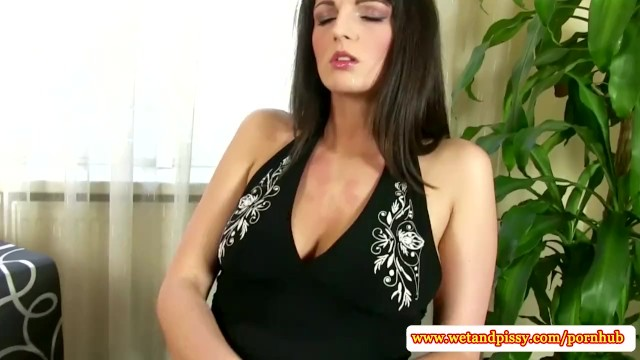 Solo goldenshower babe toying her pussy - 6