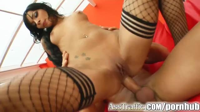 Ass Traffic Angel gets rough ass fuck and swallows that cum. - 11
