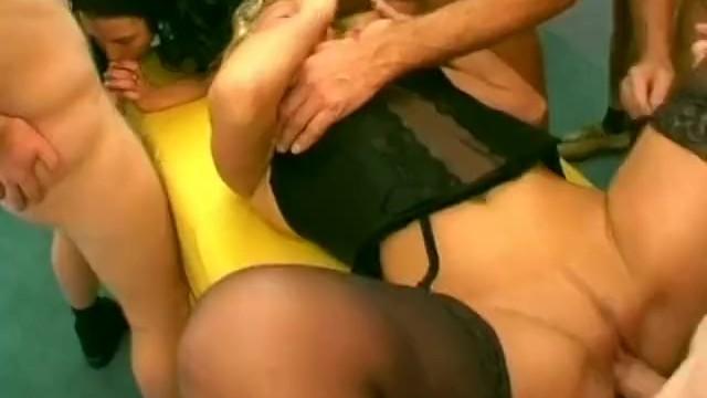 German Gilrs get cum in wild orgy - 12