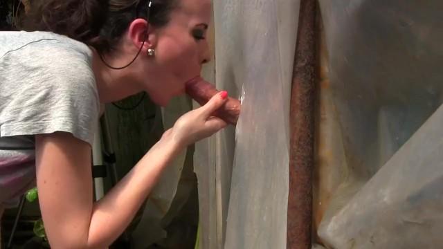 Amateur Young Milf Gloryhole Blowjob&Deepthroat Cumshot by Sylvia Chrystall - 10