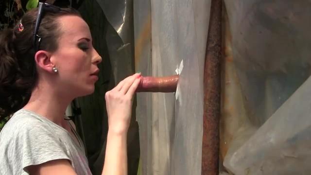 Amateur Young Milf Gloryhole Blowjob&Deepthroat Cumshot by Sylvia Chrystall - 16