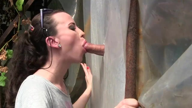 Amateur Young Milf Gloryhole Blowjob&Deepthroat Cumshot by Sylvia Chrystall - 4
