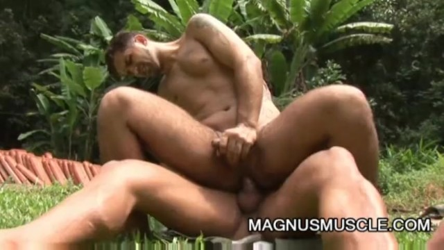 Yuri Bryan and Junior Pavanello: Military Muscle Guys Outdoor Sex - 6