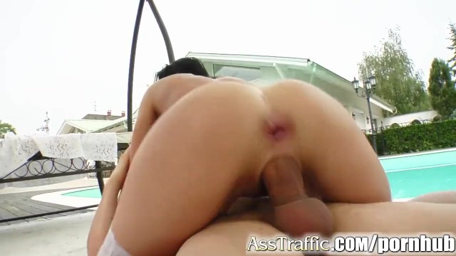 Ass Traffic Chick gets her ass trained by 2 well hung guys - 11
