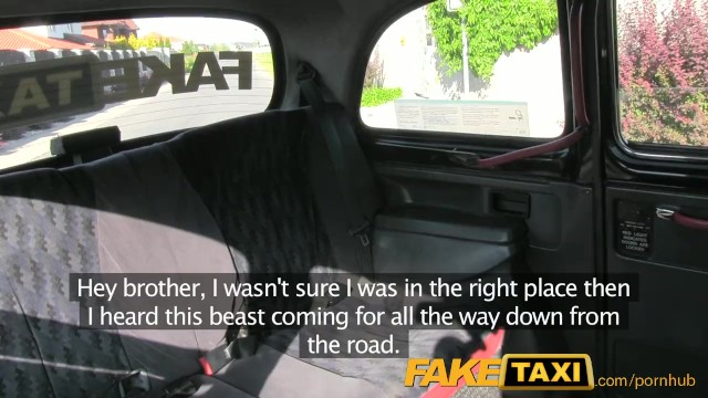 FakeTaxi Prague Beauty in backseat london sex cab holiday - 1