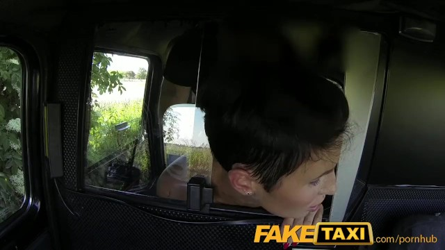 FakeTaxi Prague Beauty in backseat london sex cab holiday - 14