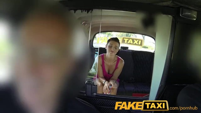 FakeTaxi Prague Beauty in backseat london sex cab holiday - 2