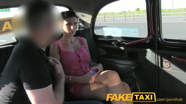FakeTaxi Prague Beauty in backseat london sex cab holiday - 5