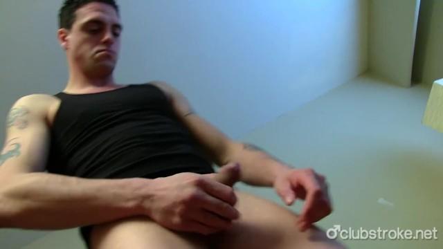 Tattooed Straight Guy James Masturbating - 3