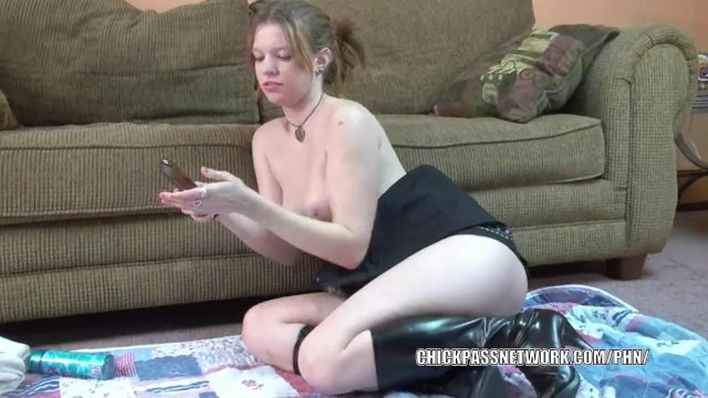Cute college girl Wendie is playing with her toy - 6