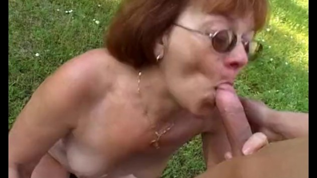 Granny With Huge Ass Gets Boy Hard - 8