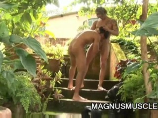 Kaike Britto and Alex Leite: Spicy Muscle Soldiers OutDoor Sex
