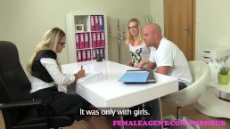 FemaleAgent. MILF fucks hot girls boyfriend in front of her in casting