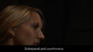 Sweet Joanna restrained in ropes and spanked