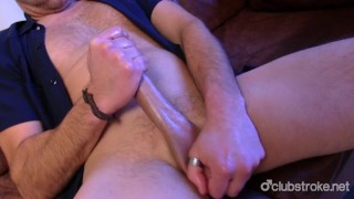 Jerking prick his off sexual rex straight male off